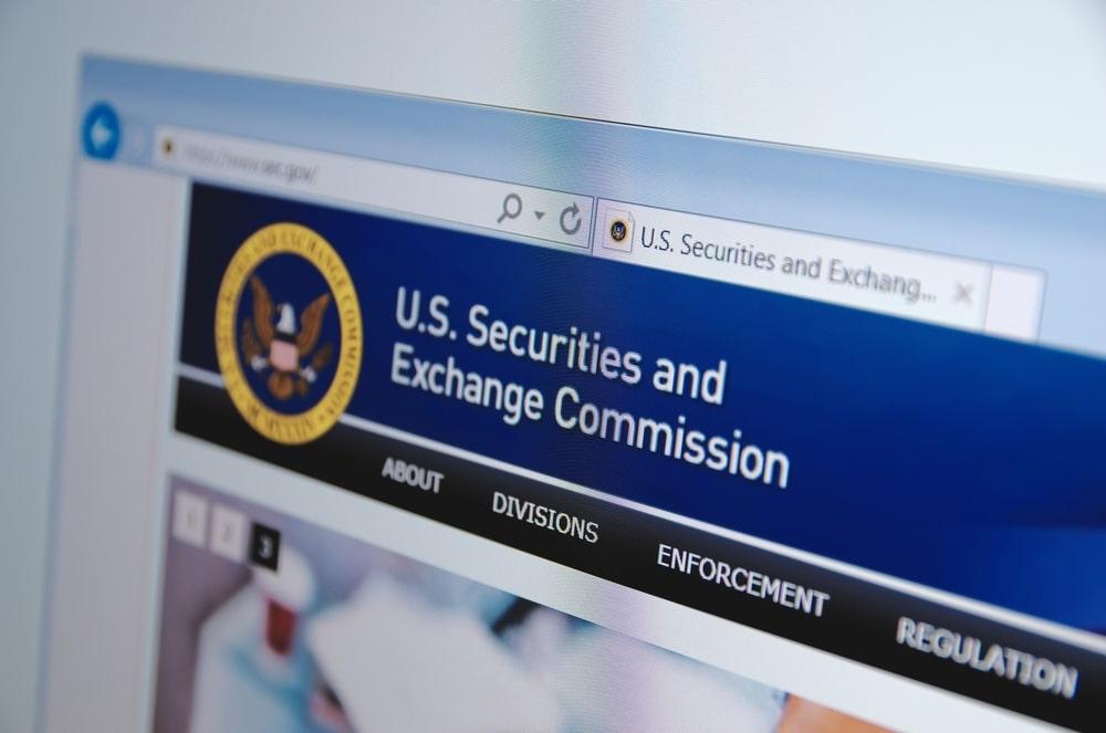 Bild der SEC auf Webseite