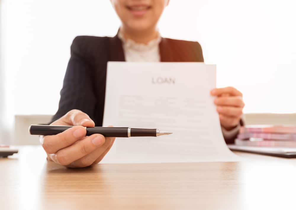 Unterzeichnung eines Kreditvertrages