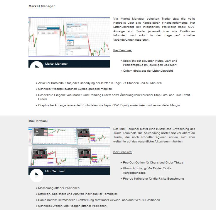Premium Tools für den MetaTrader 4 der Bernstein Bank
