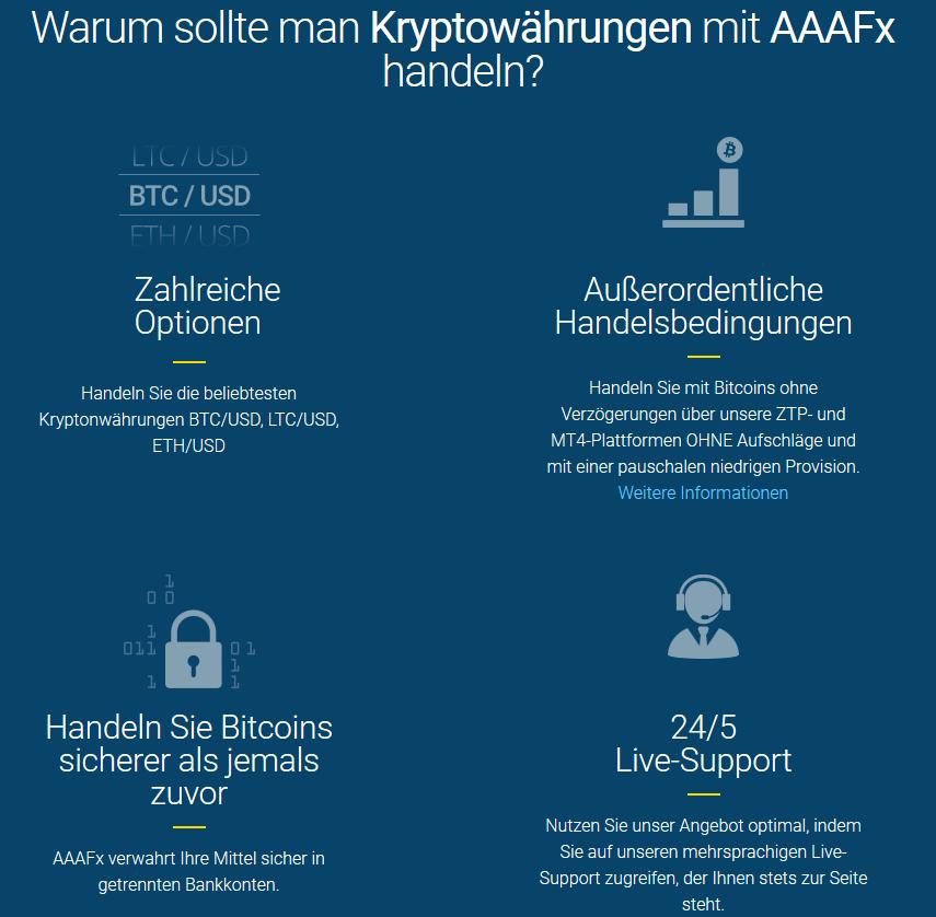 Gründe für den Handel mit Kryptowährungen bei AAAFx
