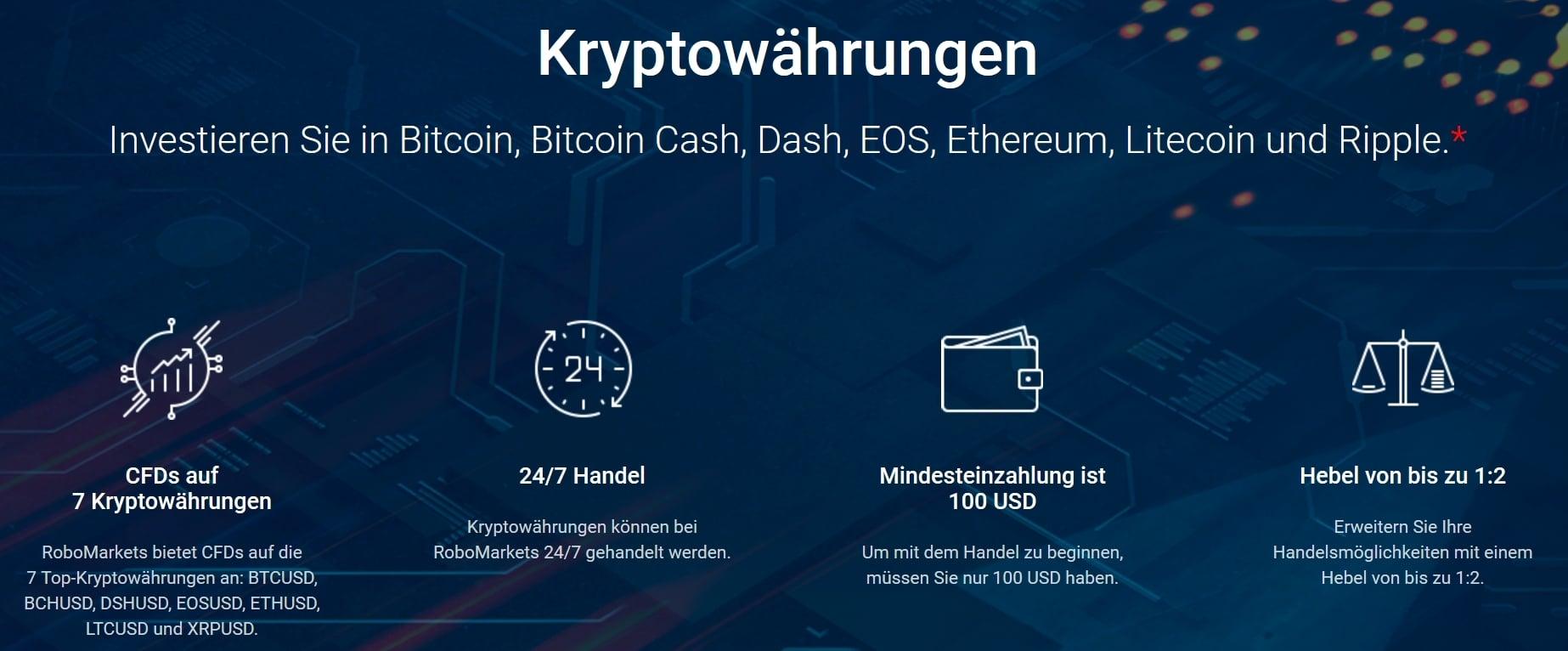Key Facts zu Kryptowährungen bei RoboMarkets